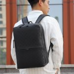2021 New PU leather Fashion Backpack For Boys men Waterproof School Backpack Luxury Designer Back Pack