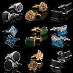 Custom Newest Men's Metal Masonic Gold Plating Cufflink With G For Man