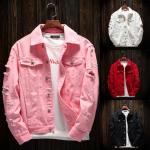 2020 Amazon bomber denim jacket custom logo jackets fashion denim jacket men