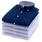 2021 Fashion Models Custom 100% Cotton Long Sleeve Male Men Dress Shirts For Boy