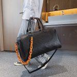Women custom overnight travel bags leather duffle bag hand suitcase gym bag custom logo