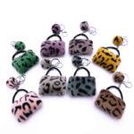 Leopard Bag Keychain Creative Plush Fur Ball Pendant Car Key Chains Wallet Coin Purse Keyrings Fashion Accessories Kimter-L636FA