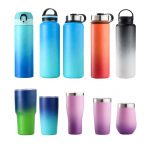 Ready to ship everich double wall vacuum flask insulated stainless steel water bottle with customer logo 18oz 32oz 48oz 64oz