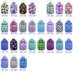 Neoprene Hand Sanitizer Bottle Camouflage Keychain Bag 30ML Print Hand Soap Bottle Holder Keyring Chapstick Holder Kimter-P90FA