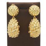 fashion Brazil golden earrings stones accessories jewelry earrings Z490
