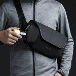 2020 Korin new arrival men outdoor anti cut shoulder bag school anti theft sling bag crossbody waterproof antitheft