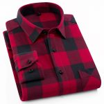 Classic Fit Check Pattern Custom Shirts Men Wholesale, Plus Size Men'S Shirts