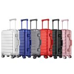 High quality luggage trolley suitcase waterproof 20 22 inch aluminium cabin luggage trolley case luggage, bags & cases