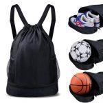 2021 custom logo leisure waterproof men drawstring sport bag backpack for gym